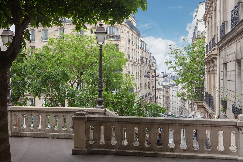 Ladder on the hill Montmartre in Paris France photo