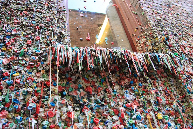 """Wall of Gum"" Pike Place Market in Seattle photo"