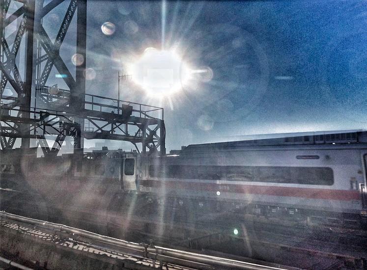white train photo