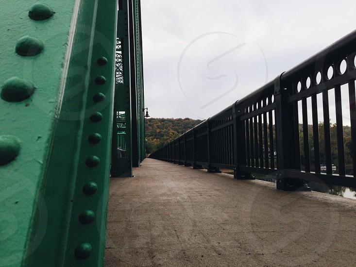 black metal handrail photo