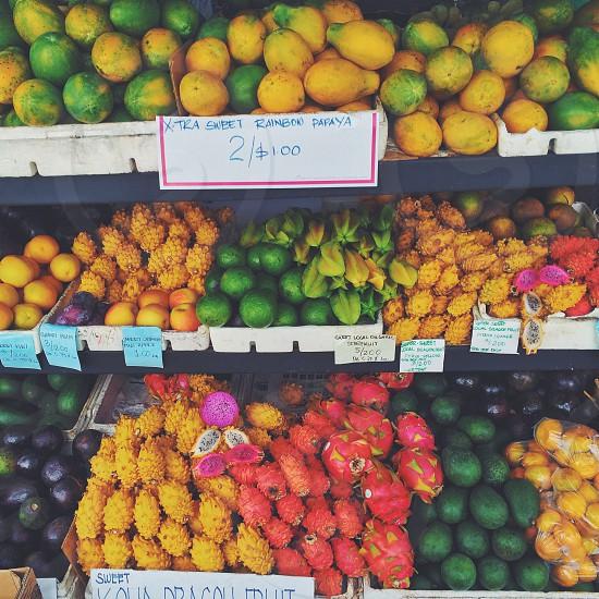 produce department shelves photo
