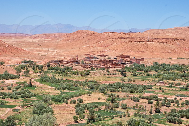 Scenic view of the village in Morocco photo