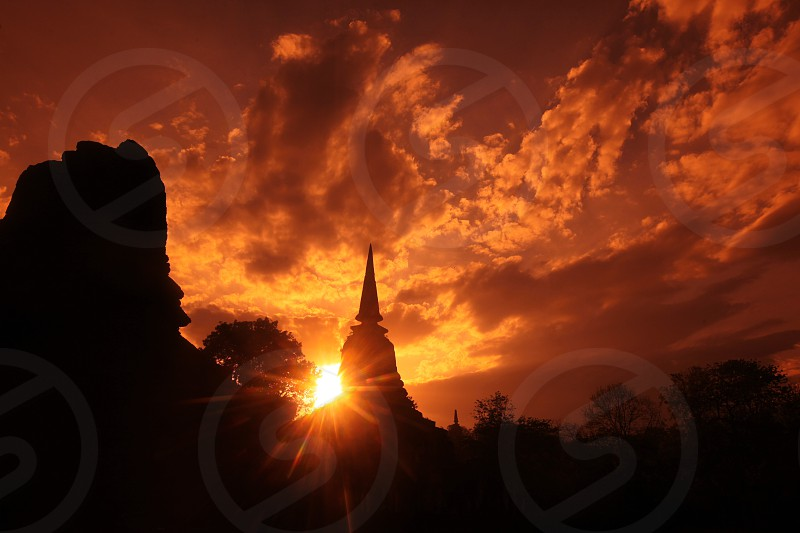 the Wat Chang Lom at the Si Satchanalai-Chaliang Historical Park in the Provinz Sukhothai in the north of Bangkok in Thailand Southeastasia. photo