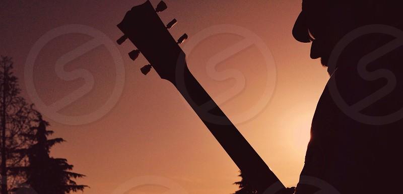 guitar silhouette photo