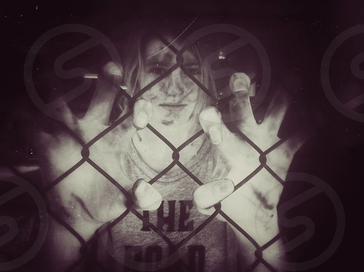 zombie behind a fence photo