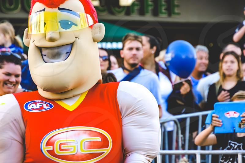Australian Football League mascot costume street parade  photo