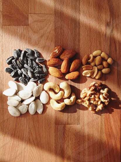 view of assorted nuts photo