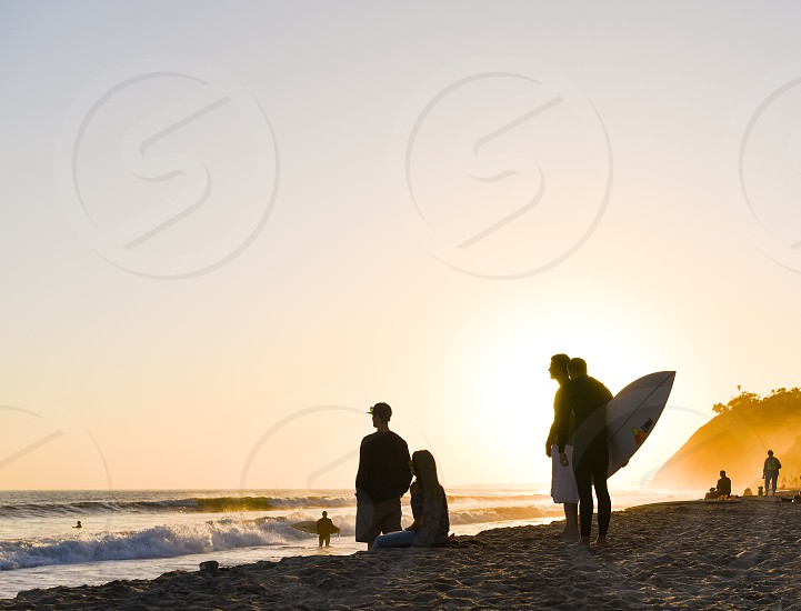 surf surfer ocean sunset beach california photo