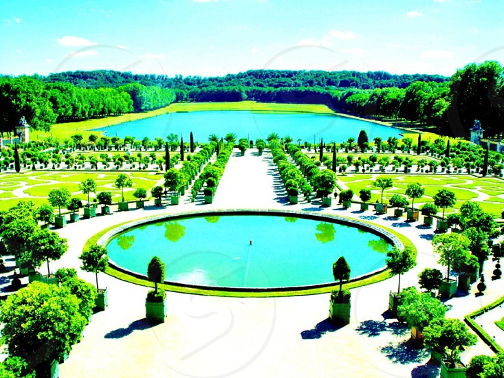 One of the gardens of the Palace of Versailles photo