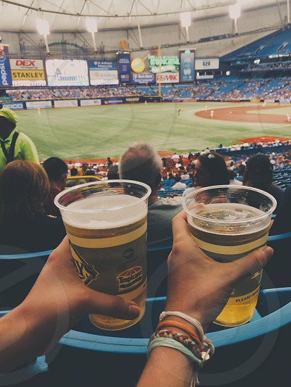 There is nothing better than summertime beer and baseball photo