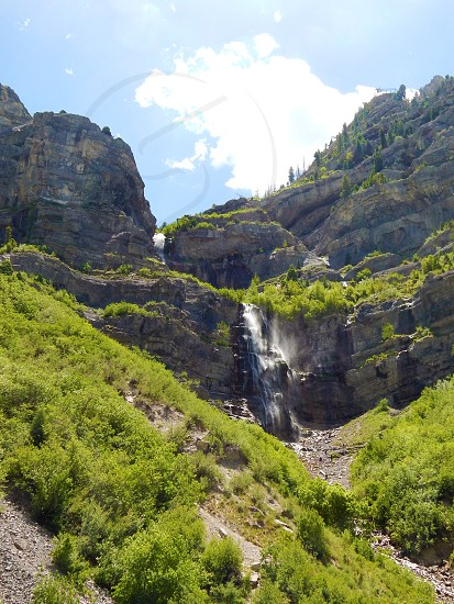 Bridal Veil Falls in Utah photo