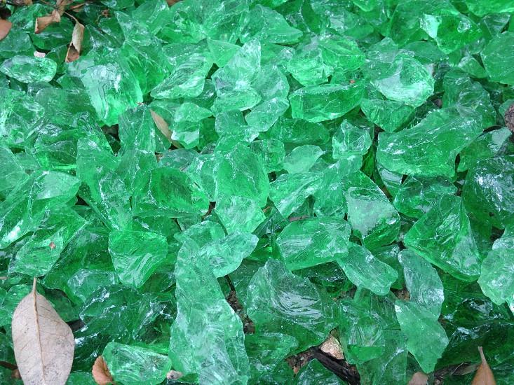 Emerald glass walkway. photo