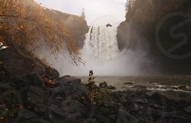 Snoqualmie falls WA. Beautiful at this time of year  photo