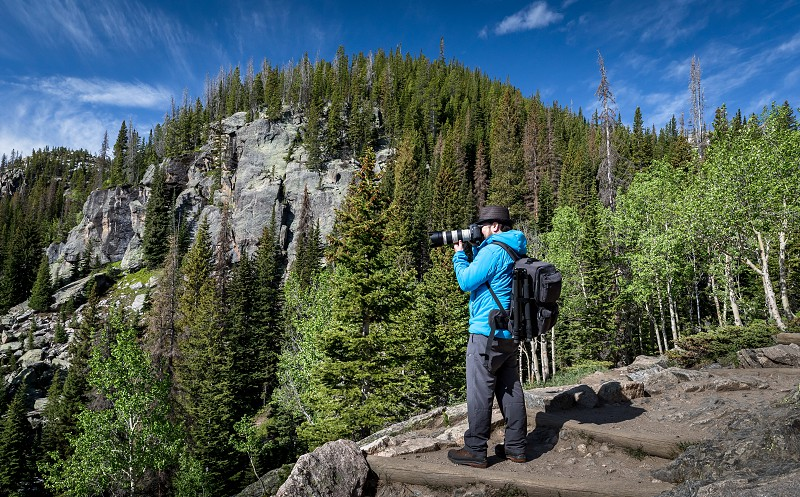 Hiking from Bear Lake to Emerald Lake in the Rocky Mountain Nationalpark photo