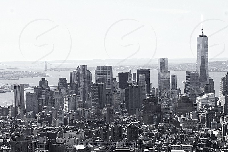 Lower Manhattan black & white photo