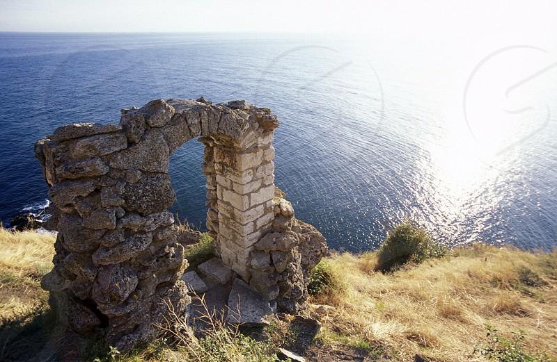 the Kap Kaliakra on the blacksea coast near the town of Balcik in Bulgaria in east Europe. photo