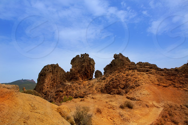 Gran canaria Tejeda Roques view from Roque Nublo in canary Islands photo