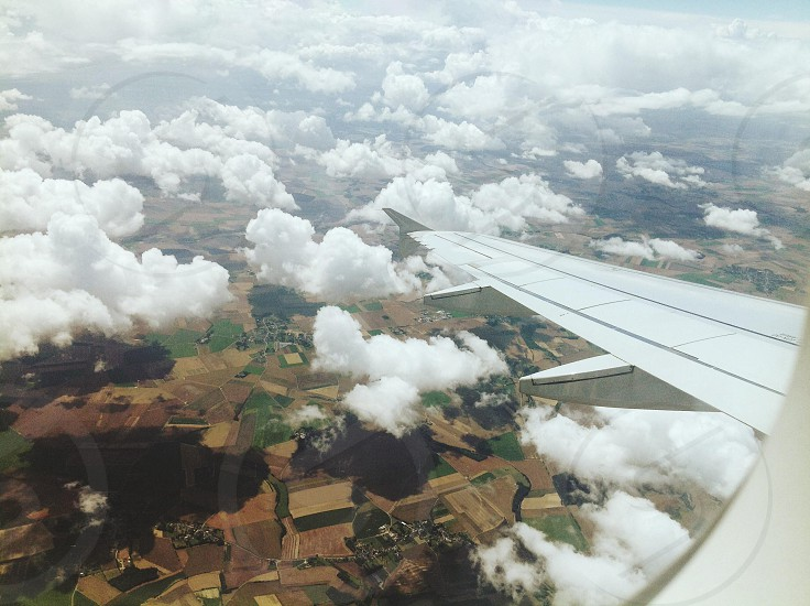 Flying over good old English countryside photo