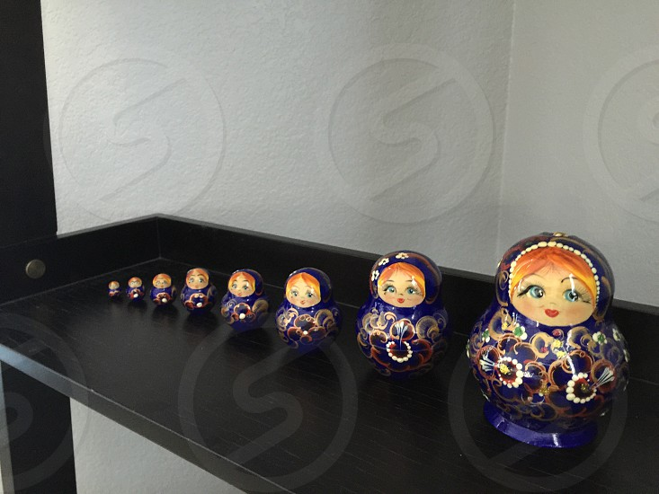 Russian dolls shrinking in size until there is nothing to see.  photo