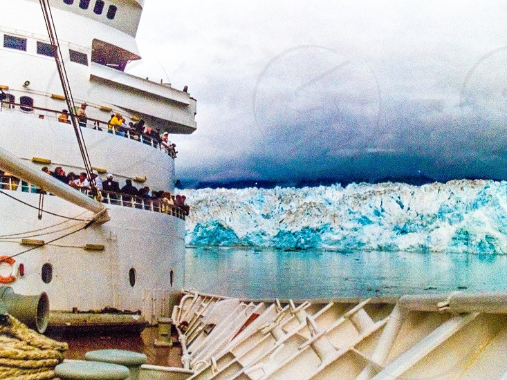 Cruise ship Alaska glacier  photo