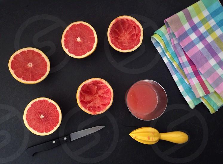 Grapefruit juice fresh fruit food healthy photo