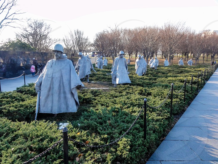 Korean War Veterans Memorial - Washington DC USA photo