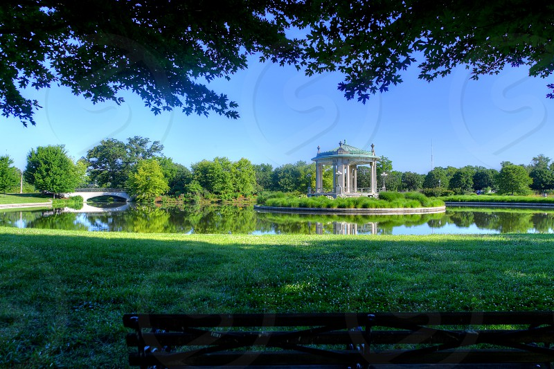 Forest Park bandstand in St. Louis Missouri. photo