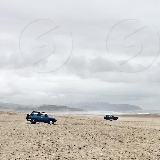 blue Toyota SUV photo