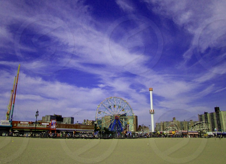 Coney Island in NY on a beautiful afternoon photo