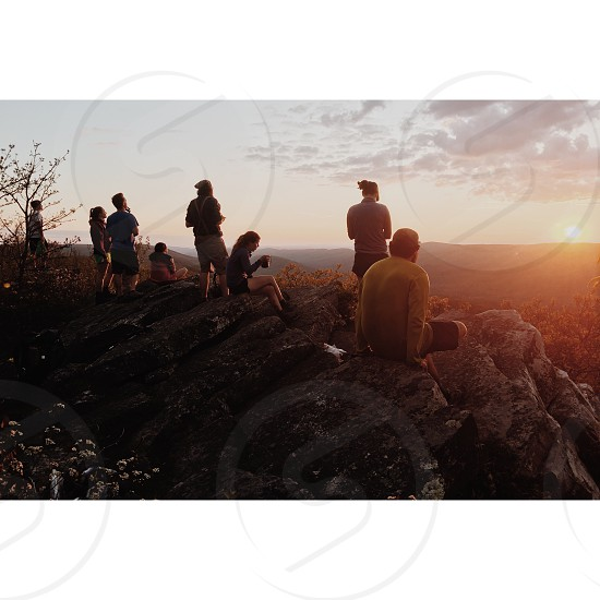 Sunset vista travel camping hiking landscape photo