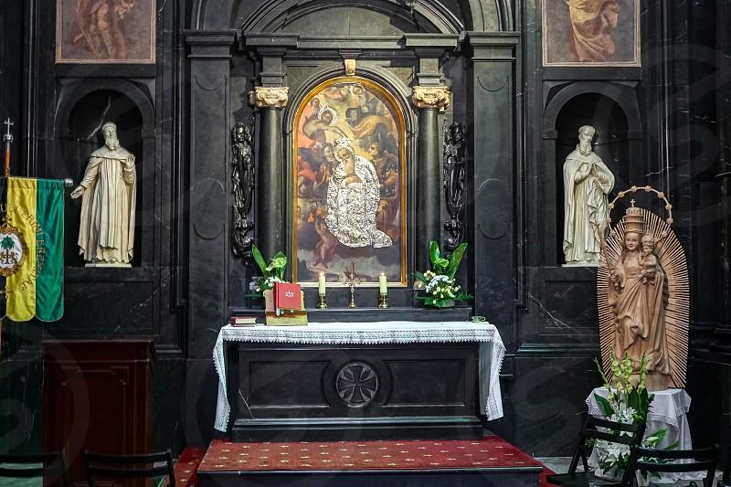 Partial view Jasna Gora Monastery in Czestochowa Poland photo