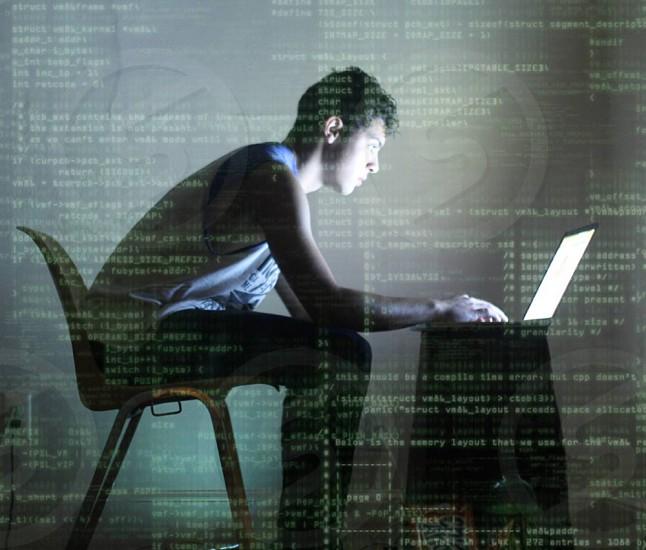 Developer writing code photo
