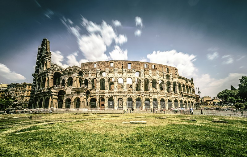 The Colosseum in Rome. Vintage style photo