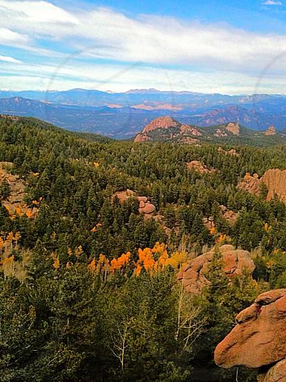 Spectacular scenery near Devil's Head Tower Colorado.  photo