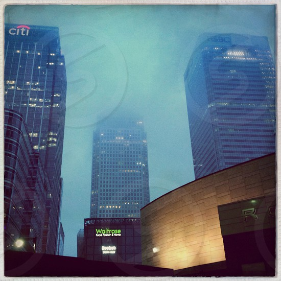 cityscape view with mist  photo