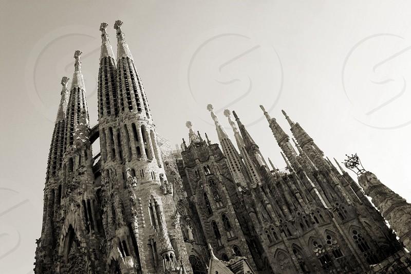 Sagrada Familia church in Barcelona Spain. photo
