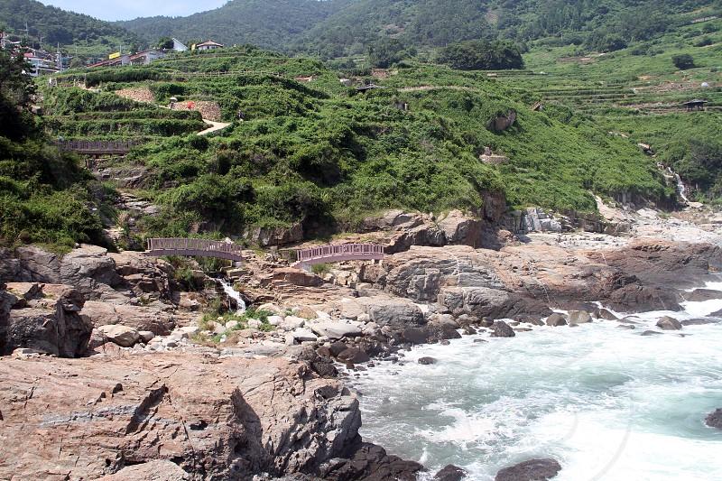 Namhae County in South Gyeongsang Province South Korea. Travel destination. photo