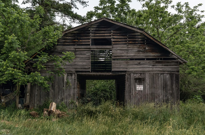 old barn ruins tobacco loft western north Carolina rural farm photo