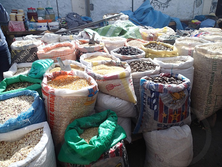 Food and spices at a market photo