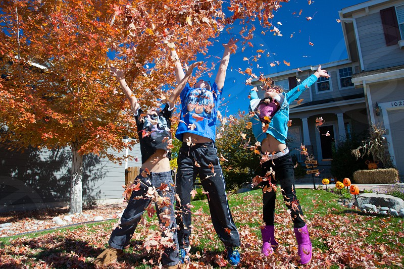 Fall Autumn Leaves Kids photo