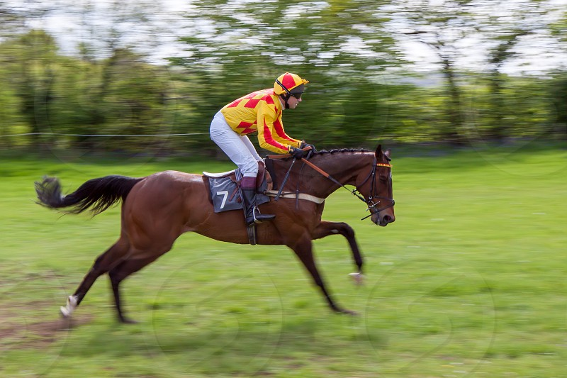 GODSTONE SURREY/UK - MAY 2 : Point to point racing at Godstone Surrey on May 2 2009. Unidentified man photo