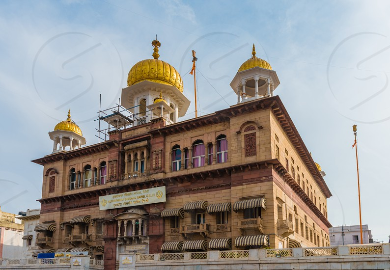 Golden fennel of Gurudwara Sisganj Sahib at Delhi photo