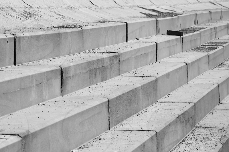 grey concrete stairs photo