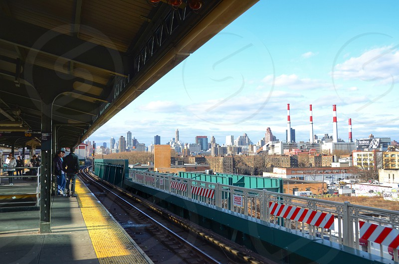 View of Manhattan from Queens. NYC photo