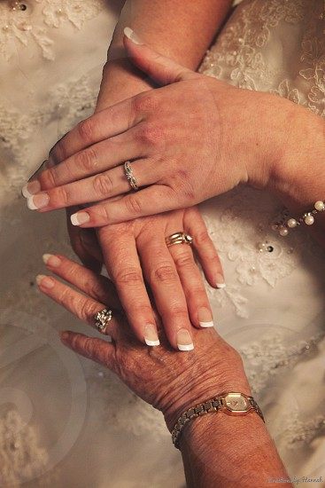 wedding bridal generations rings lace white marriage photo
