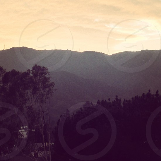 Los Angeles hills sunset beautiful  photo