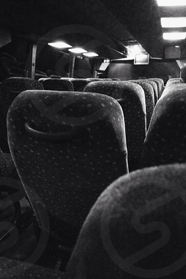 black grayscale bus chair  photo