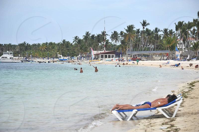 Beach in Punta Cana Dominican Republic  photo