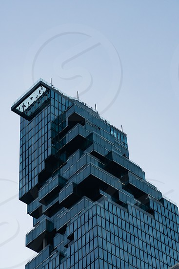 Office building at Sathorn in Bangkok city Thailand. photo