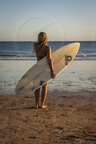 Fun surfing in Carcavelos Portugal  photo